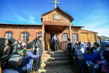 Святейший Патриарх Кирилл посетил село Лаврентия