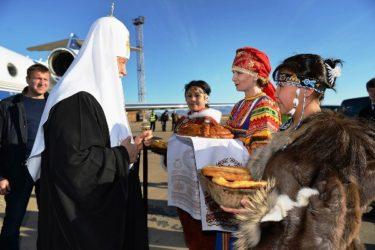 Патриарший визит в Анадырскую епархию. Прибытие