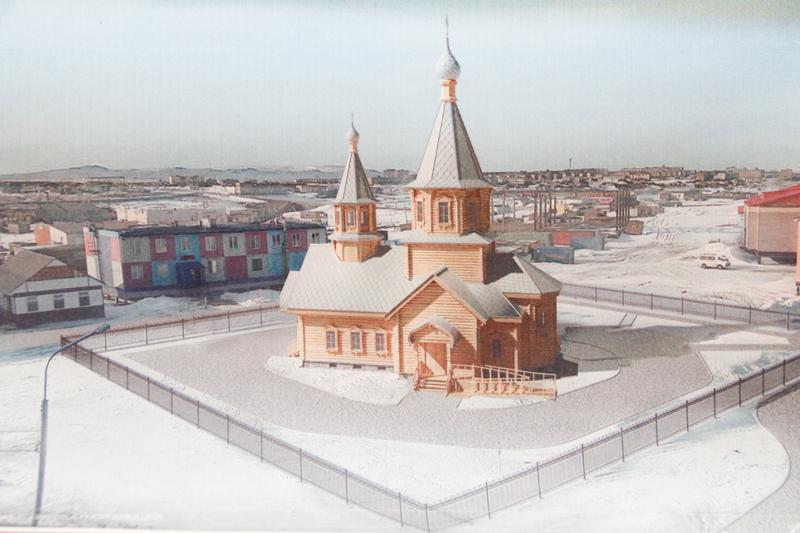 3D-проект нового храма в пос. Угольные Копи (ул. Первомайская)