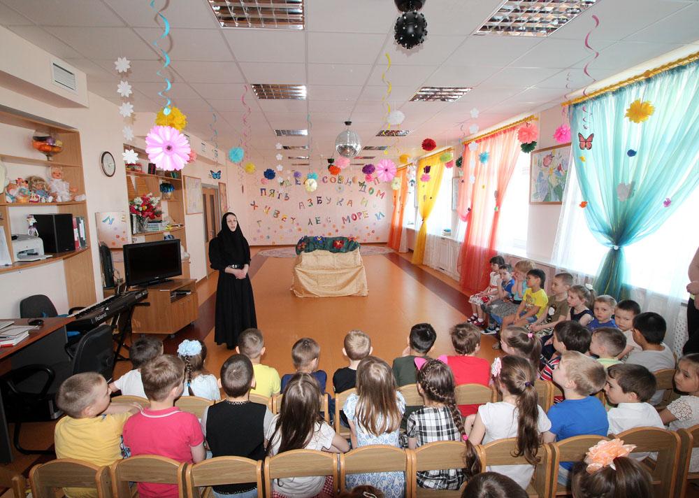 Занятие на тему славянской письменности в детском саду «Парус»