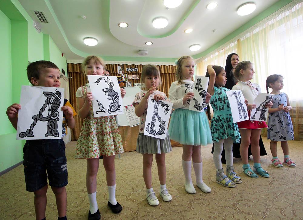 Занятие на тему славянской письменности в детском саду «Ладушки»